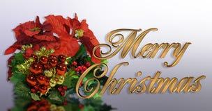 Texto del oro de la tarjeta de felicitación de la Navidad 3D ilustración del vector