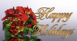 Texto del oro de la tarjeta de felicitación de la Navidad 3D Imagenes de archivo