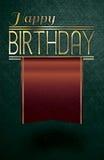 Texto del oro del feliz cumpleaños Imagen de archivo libre de regalías