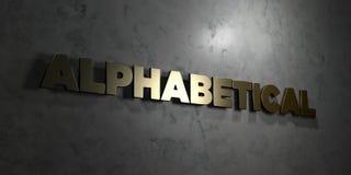 - Texto del oro en fondo negro - 3D alfabético rindió la imagen común libre de los derechos libre illustration