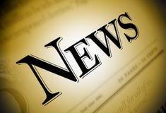 Texto del periódico de las noticias Fotos de archivo