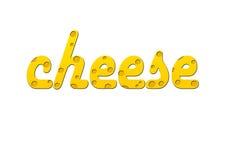 Texto del queso Fotografía de archivo libre de regalías