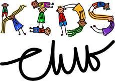 Texto del título del club de los niños stock de ilustración