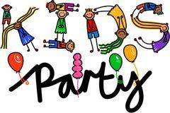 Texto del título del partido de los niños stock de ilustración