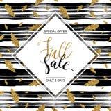 Texto del vector de la venta de la caída del otoño Fotografía de archivo