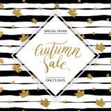 Texto del vector de la venta del otoño Fotografía de archivo