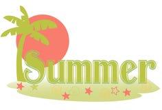 Texto del verano Imagen de archivo