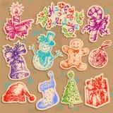 Texto determinado de la Navidad Imagenes de archivo