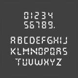 Texto digital de la calculadora ilustración del vector
