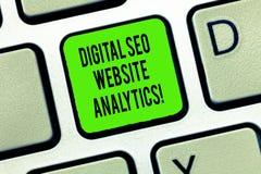 Texto Digital Seo Website Analytics da escrita da palavra E imagem de stock royalty free