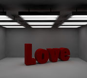 texto do amor 3d Imagem de Stock Royalty Free
