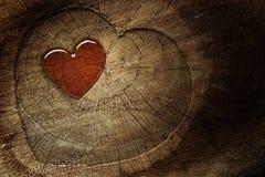 Texto do amor no fundo de madeira Fotografia de Stock Royalty Free