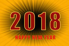 Texto do ano novo feliz 2018 foto de stock