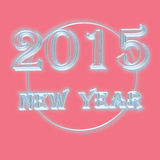 Texto do ano novo 2015 no fundo cor-de-rosa Imagens de Stock Royalty Free
