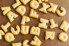 texto do biscoito Fotos de Stock Royalty Free