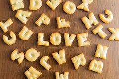 texto do biscoito Fotografia de Stock