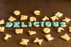 texto do biscoito Foto de Stock