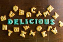 texto do biscoito Imagens de Stock