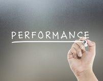Texto do desempenho Imagens de Stock