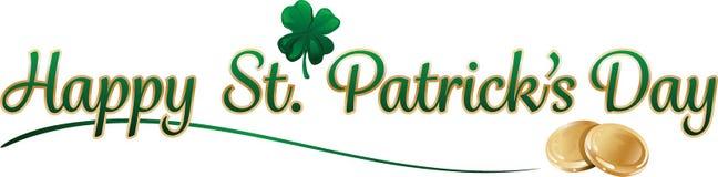 Texto do dia de St Patrick ilustração do vetor