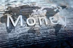 Texto do dinheiro Fotos de Stock Royalty Free