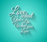 Texto do erro tipográfico do amor de Insipational com estilo retro Imagem de Stock Royalty Free