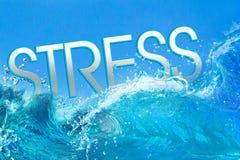 Texto do esforço em ondas de oceano Imagem de Stock