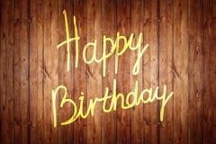 Texto do feliz aniversario Fotos de Stock