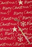 Texto do Feliz Natal Fotos de Stock
