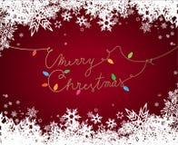 Texto do Feliz Natal criado do cabo distribuidor de corrente Imagem de Stock Royalty Free