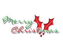 Texto do Feliz Natal da ilustração Fotos de Stock Royalty Free