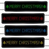 Texto do Feliz Natal de Digitas ilustração stock