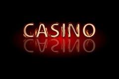 Texto do fogo do casino em um fundo escuro ilustração royalty free