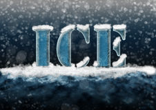 Texto do gelo Fotografia de Stock Royalty Free
