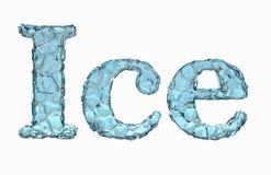 Texto do gelo Fotografia de Stock