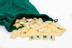 Texto do jogo Fotografia de Stock Royalty Free