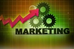 texto do mercado 3d Imagens de Stock
