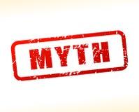 Texto do mito protegido ilustração stock