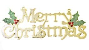 Texto do Natal do inclinação Fotografia de Stock Royalty Free