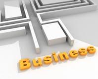Texto do negócio 3D ilustração royalty free