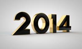 texto 2014 do ouro Imagem de Stock Royalty Free