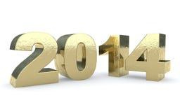 Texto do ouro 2014 Foto de Stock Royalty Free