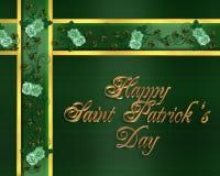 Texto do ouro do cartão do dia do St Patricks Fotografia de Stock Royalty Free