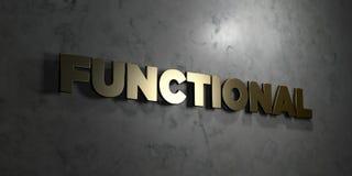 - Texto do ouro no fundo preto - 3D funcional rendeu a imagem conservada em estoque livre dos direitos ilustração royalty free