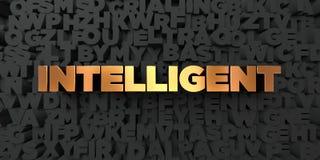 - Texto do ouro no fundo preto - 3D inteligente rendeu a imagem conservada em estoque livre dos direitos ilustração royalty free