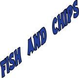 Texto do peixe com batatas fritas Foto de Stock Royalty Free