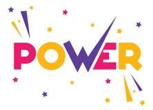 Texto do poder com estrelas ilustração stock