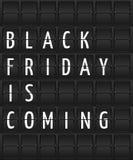 Texto do Promo em um fundo preto ao estilo do calendário Fotografia de Stock Royalty Free