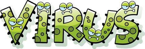 Texto do vírus dos desenhos animados Fotos de Stock