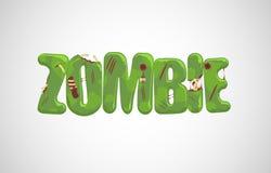 Texto do zombi do vetor ilustração stock